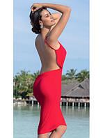 Пляжное платье-парео  (цвет страстный алый), фото 1