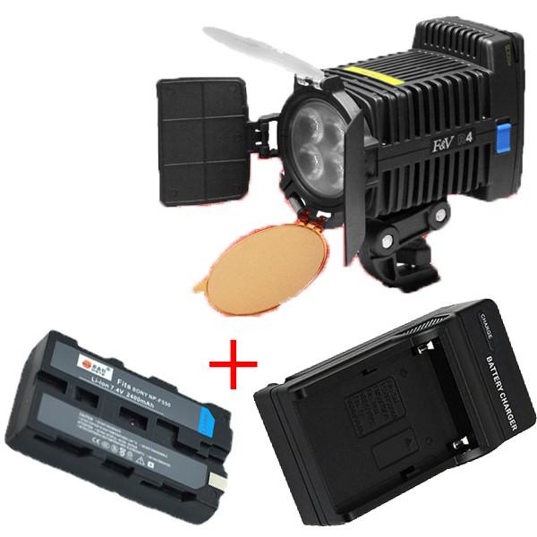 Cветодиодный накамерный видео свет F&V R-4 + батарея + зарядное устройство (R-4)