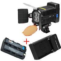 Cветодиодный накамерный видео свет F&V R-4 + батарея + зарядное устройство (R-4), фото 1