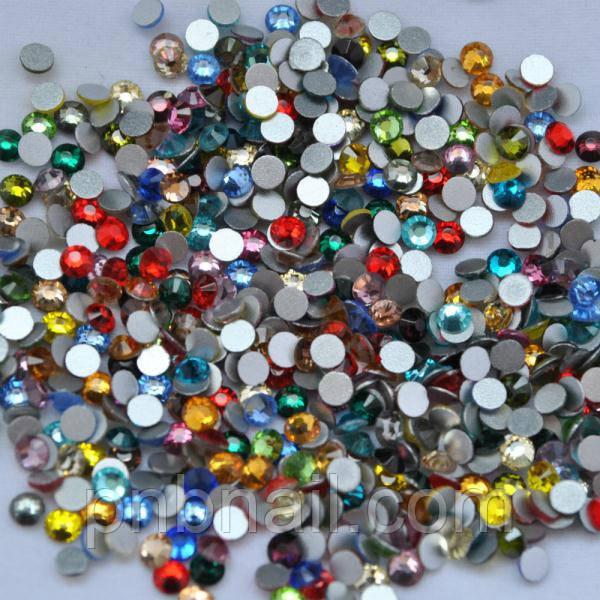 Стразы ,стекло ( аналог Swarovski) SS4 - 1.5мм, микс(разноцветные), 100 шт.
