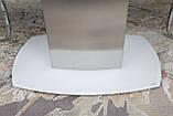 Обеденный раскладной стол HOUSTON (Хьюстон) 130/190*105 белый матовое стекло Nicolas (бесплатная доставка), фото 4