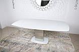Обеденный раскладной стол HOUSTON (Хьюстон) 130/190*105 белый матовое стекло Nicolas (бесплатная доставка), фото 6