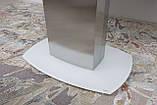 Обеденный раскладной стол HOUSTON (Хьюстон) 130/190*105 белый матовое стекло Nicolas (бесплатная доставка), фото 7