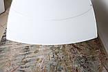Обеденный раскладной стол HOUSTON (Хьюстон) 130/190*105 белый матовое стекло Nicolas (бесплатная доставка), фото 10