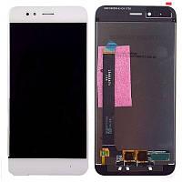 Дисплей Xiaomi Mi A1, Mi5X + сенсор белый + рамка
