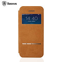 Чехол книжка Baseus Terse Buckskin Leather Case for iPhone 5 5S 5se Smart View Brown