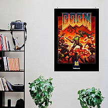 """Постер """"Doom. Обновлённый классический постер"""". Дум. Размер 60x42см (A2). Глянцевая бумага, фото 3"""