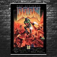 """Постер """"Doom. The Ultimate"""". Постер с подписями разработчиков. Размер 60x43см (A2). Глянцевая бумага"""