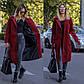 """Элегантное женское пальто демисезон 6030 """"Кашемир Миди Запах Пояс"""" в расцветках, фото 10"""