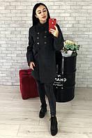 Пальто женское серое размер 3 XL AAA 1125