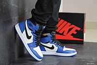 Кроссовки Nike Air Jordan 1 Retro High OG мужские, синий с белым, в стиле Найк Джордан, код SD-8149