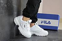 Кроссовки FILA Disruptor мужские, белые, в стиле Фила Дизраптор, кожа, Код SD-8153