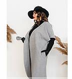 Пальто без застёжек и подкладки №134Б-Серый, фото 2