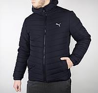Зимняя куртка Puma мужская, темно-синяя, материал-100% нейлон, наполнитель-силикон, код AA-K0045.