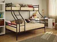 Металлическая двухъярусная кровать Smart 200(190)х140/80(90) см. Метакам