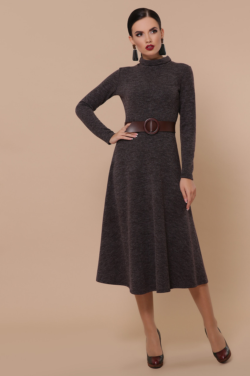 Женское платье шоколад Ава д/р