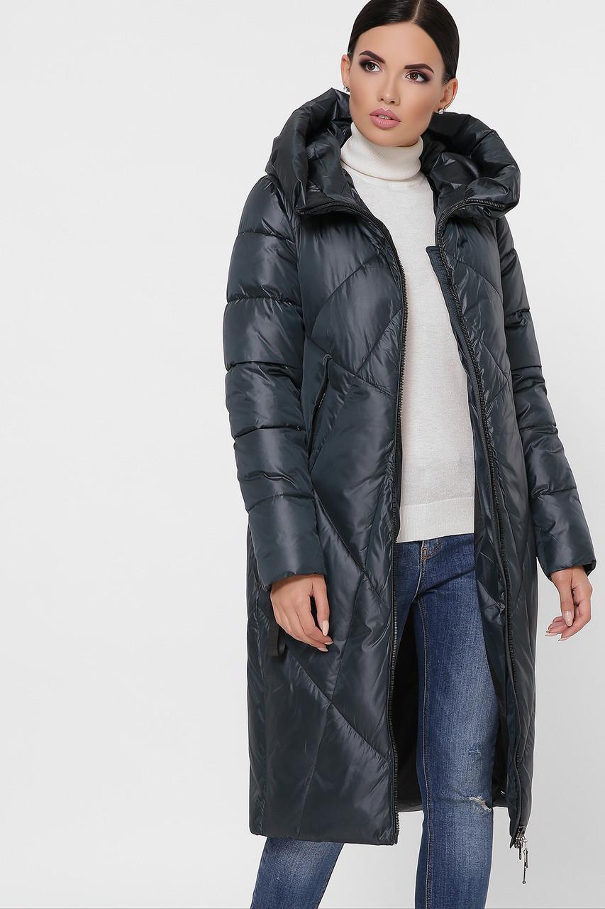 Куртка женская темно зеленая 9120