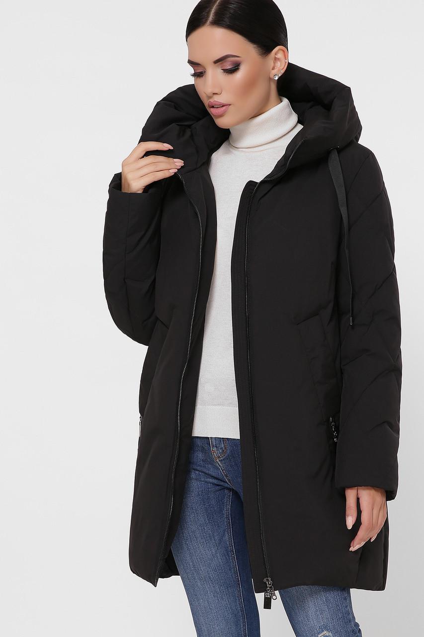 Куртка женская черная М-130 В НАЛИЧИИ ТОЛЬКО 5XL-56
