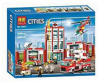 """Конструктор Bela 10831 (Аналог Lego City 60110) """"Пожарная часть""""958 деталей, фото 1"""