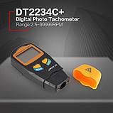 Тахометр цифровой лазерный бесконтактный DT2234C+, фото 6