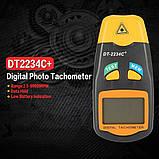 Тахометр цифровой лазерный бесконтактный DT2234C+, фото 7