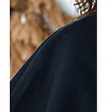 Пальто без застёжек и подкладки №134Б-Синий, фото 4