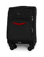 Мини чемодан 54х35х22 Ручная кладь на 4 колесах Fly 1708 Черный