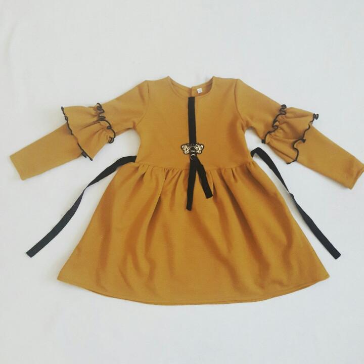 Красивое  теплое детское платье для садика