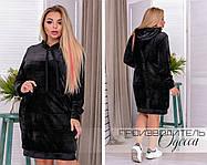 Модное. женское платье в спортивном стиле из плюша  больших размеров с 50 по 72, фото 3