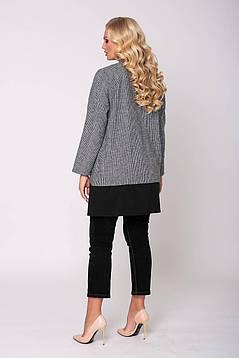 Модная женская теплая туника  с карманами  в мелкую клеточку с 54 по 62  размер, фото 2
