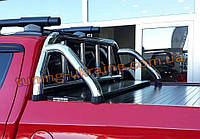 Задняя дуга в кузов RollBar на Фиат Фулбек 2016+ Защита кузова Ролл-бар на пикап для Fiat Fullback 2016-2019