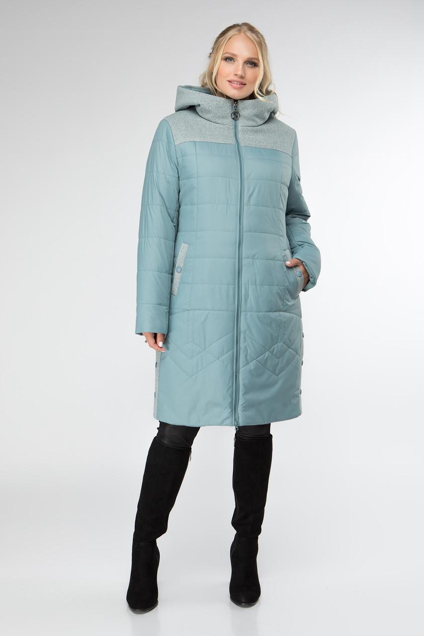 Демісезонн жіноча курточка з плащовки та пальтової тканини