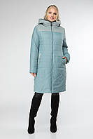 Демісезонн жіноча курточка з плащовки та пальтової тканини, фото 1