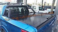 Задняя дуга в кузов в черном цвете RollBar на Фиат Фулбек 2016+ Ролл-бар на пикап для Fiat Fullback 2016-2019