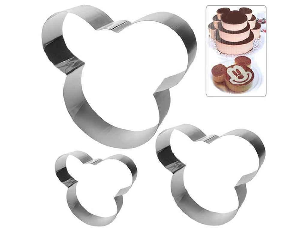 """Кольца для торта Микимаус 3 штуки 21х21х5 см N01949 MPH025259 """"STENSON"""""""