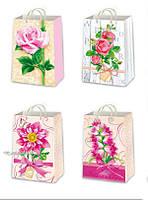 Подарочные пакеты женские размер 26 х 17 см (12 шт/уп)