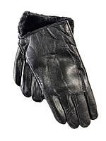 Кожаные перчатки мужские на меху оптом со склада в Одессе