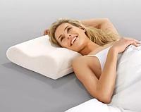 Подушка ортопедическая Memory Pillow для проблемной спини и шеи (18158)