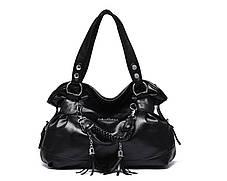 Шикарна містка сумка-бродяга з брелоками, фото 2