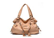 Шикарная вместительная сумка-хобо с брелками, фото 3