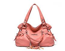 Шикарная вместительная сумка-хобо с брелками, фото 2
