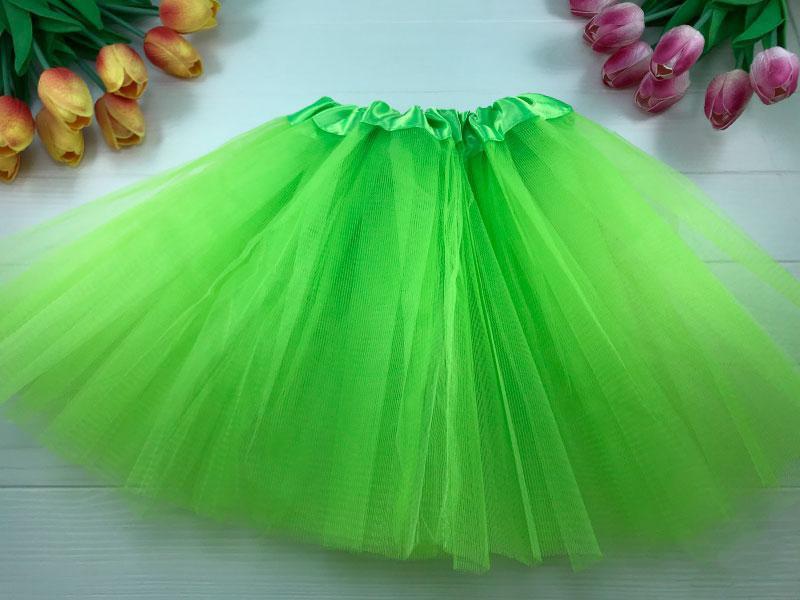 Юбка пышная Фатиног 30 см для девочки карнавальная юбка-пачка салатовый