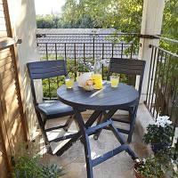 Набор садовой мебели Jazz Set Graphite ( графит ) из искусственного ротанга, фото 1