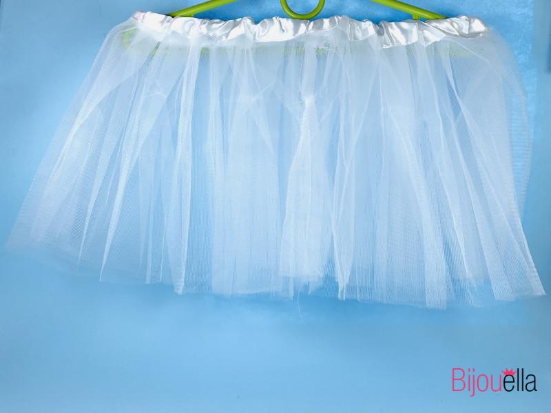 Юбка пышная Фатиног 30 см для девочки карнавальная юбка-пачка белая