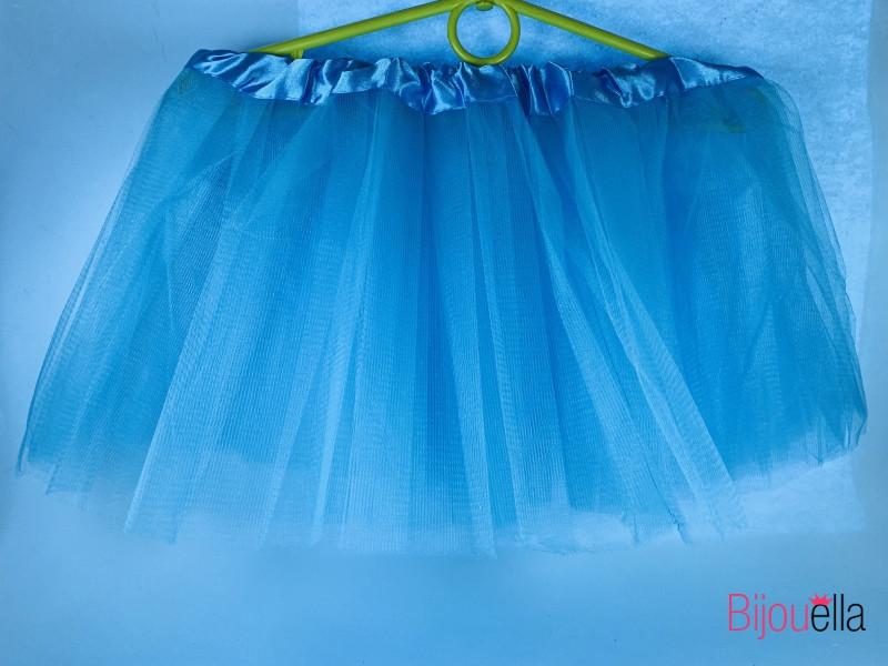 Юбка пышная Фатиног 30 см для девочки карнавальная юбка-пачка голубая