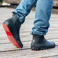 Чоловічі гумові черевики Псков Nordman Beat ПС 30 Чорні з червоною підошвою,Раз. 40 із 47,Оригінал