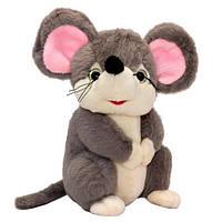 Мягкая игрушка Мышка удивленная (серая), 22 см, Devilon (164611/2-1)
