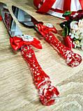 Нож и лопатка для свадебного торта Brooch (красные), фото 2