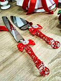 Нож и лопатка для свадебного торта Brooch (красные), фото 3