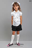 Детская школьная блузка для девочки черный